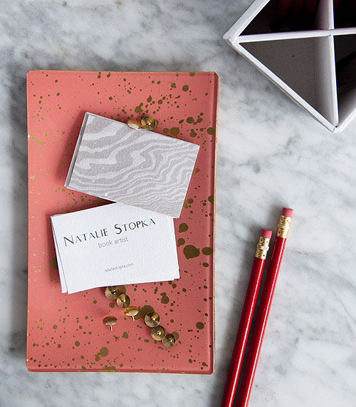DIY Marbled Business Cards | Natalie Stopka for Design Sponge