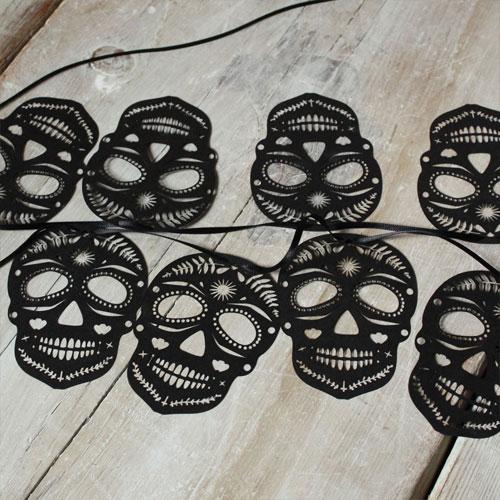 Lasercut Sugar Skull Bunting | Mr. Yen