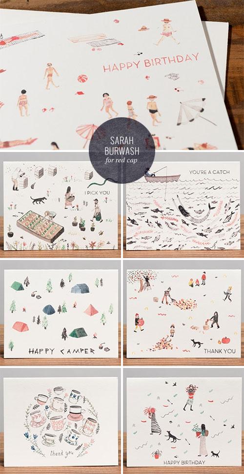 Sarah Burwash for Red Cap Cards