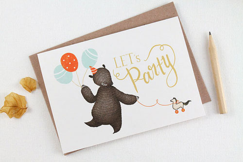 Let's Party Greeting Card | Whimsy Whimsical