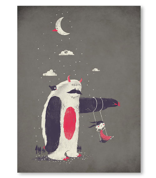 Yeti Art Print | Fuzzy Ink