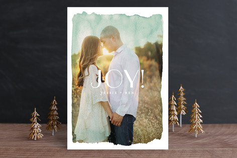 Aquarelle No. 2 Holiday Photo Cards
