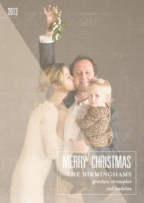 Bashful Blur Modern Holiday Photo Cards