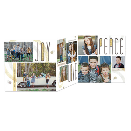 Circling Joys Tri-Fold Holiday Photo Cards