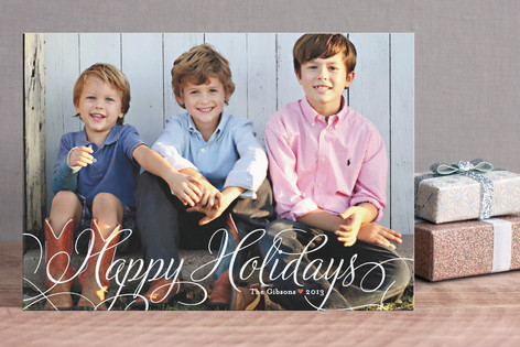 Classic Merry Holiday Photo Postcards