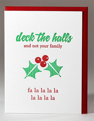 Deck the Halls... Letterpress Card | Kiss and Punch