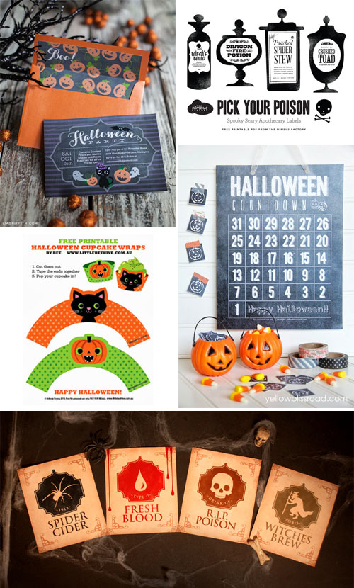 Free Halloween Printables as seen on papercrave.com