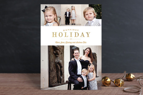 Glitter Border Holiday Photo Cards