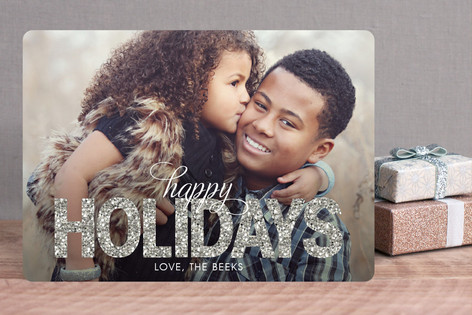 Glitter Holiday Photo Cards