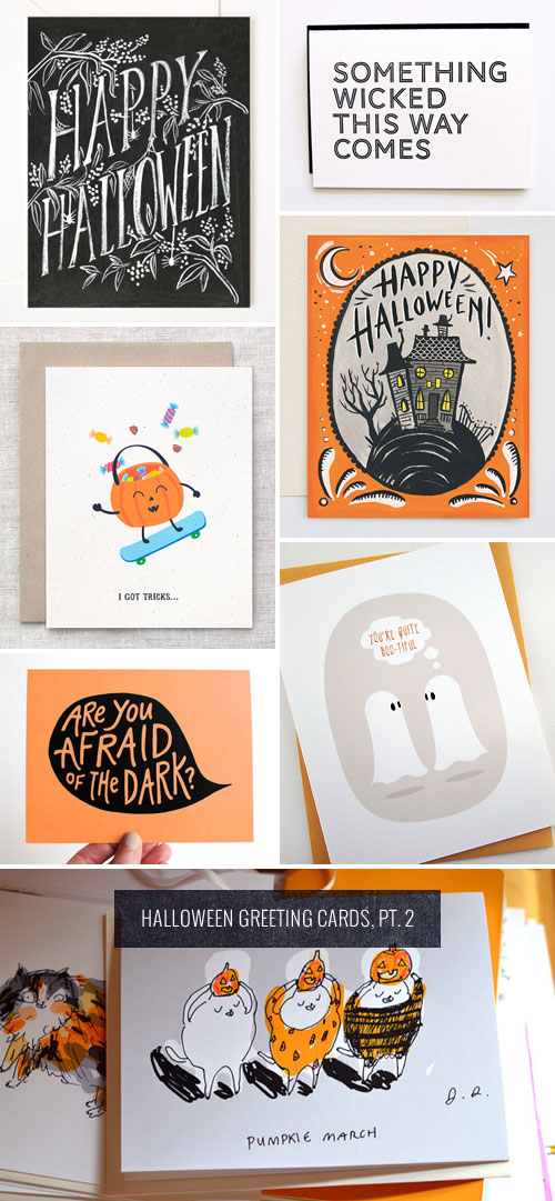Halloween Greeting Cards, Pt. 2 as seen on papercrave.com