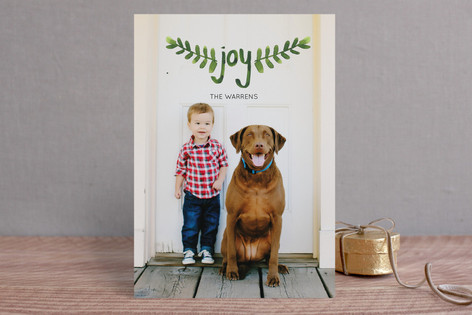 Hand Painted Branches Holiday Photo Cards