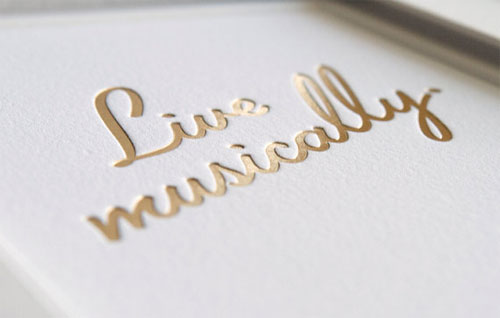 Live Musically Print (detail) | Honey & Bloom