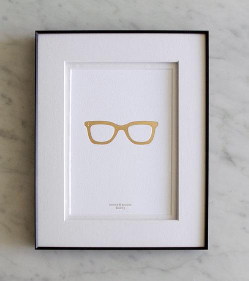 Gold Frames Gold Foil Debossed Print | Honey & Bloom