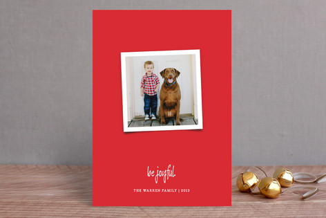 Joyfully Modern Holiday Photo Cards