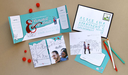 Jeff & Judy's Quirky Juno-Inspired Wedding Stationery | Anticipate Invitations