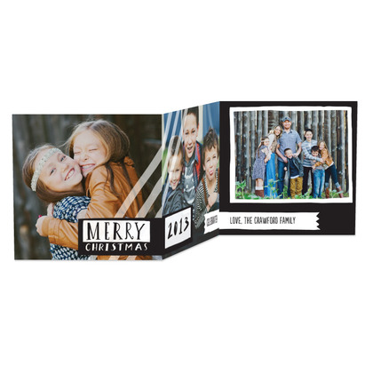 Loving Label Tri-Fold Holiday Photo Cards