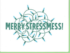 Stressmas Lights Letterpress Card | Dude & Chick