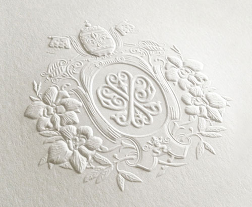 Embossed Coat of Arms | Atelier Isabey