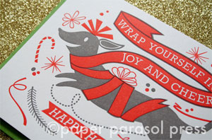 Joy and Cheer Letterpress Card | Paper Parasol Press