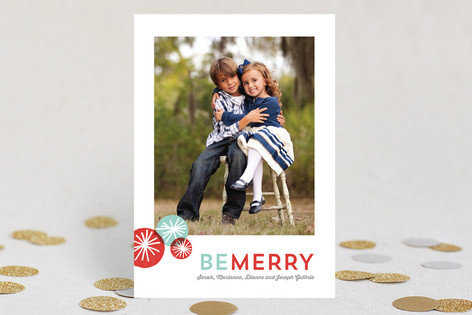 Pom Pom Fun Holiday Photo Cards