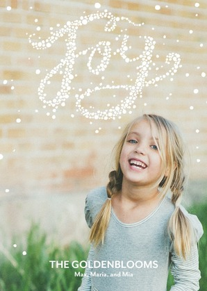 Sprinkled With Joy Holiday Photo Cards