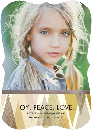 Stunning Stand Holiday Photo Cards