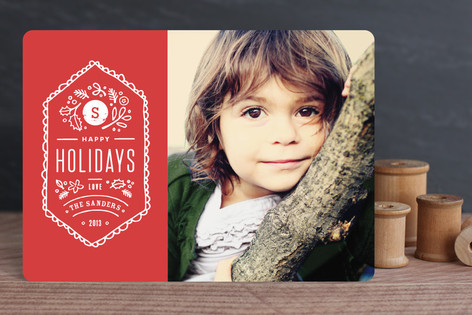 Vintage Stamp Holiday Photo Cards