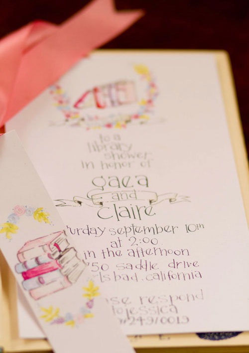 Whimsical, Book-Themed Baby Shower Invitations | Design House of Moira