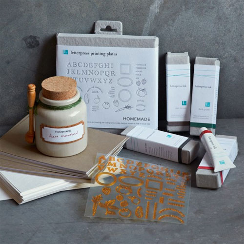 Williams Sonoma + Lifestyle Crafts Food Gift Letterpress Sets