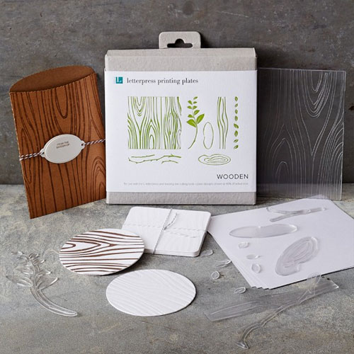 Wood DIY Letterpress Plates