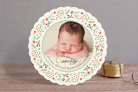 Woodland Wreath Holiday Photo Cards