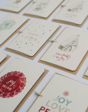An April Idea Holiday Cards