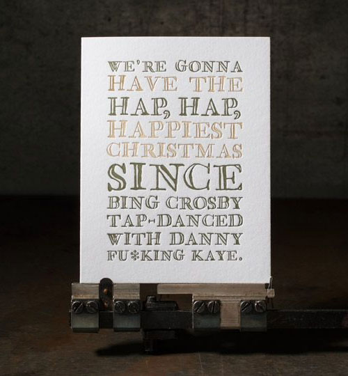 Christmas Vacation Holiday Letterpress Card | Boxcar Press