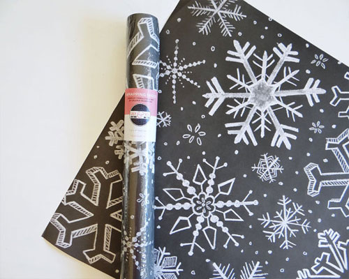 Snowflakes Holiday Chalkboard Gift Wrap | Lily & Val