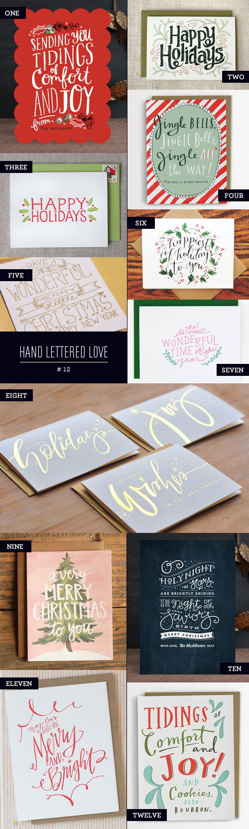 Hand Lettered Love #12, Holiday Card Edition as seen on papercrave.com