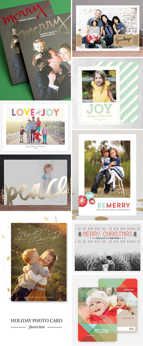 Holiday Photo Card Favorites as seen on papercrave.com