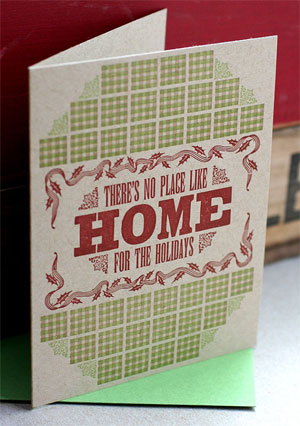 Home For The Holidays Letterpress Card