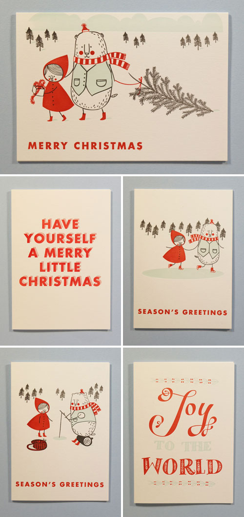 Imogen Owen Letterpress Holiday Cards