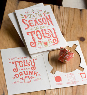 Jolly Christmas Shot Glass Card | 55 Hi's