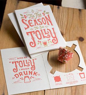 Jolly Christmas Shot Glass Card   55 Hi's