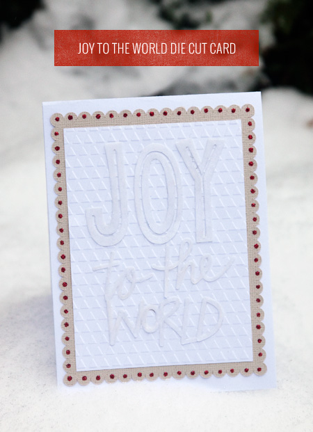 Joy to the World Die Cut Card as seen on papercrave.com