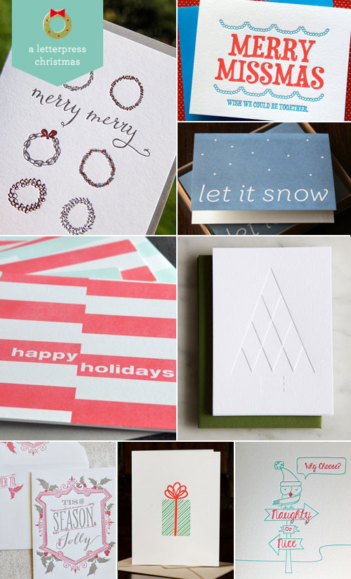 A Letterpress Christmas 2013, Roundup #3 as seen on papercrave.com