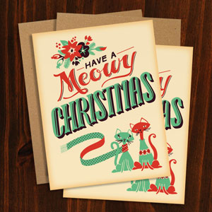 Meowy Christmas Card | Pattern Daily
