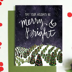 Merry and Bright Card | An Open Sketchbook