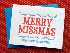 Merry Missmas Letterpress Card | Farewell Paperie