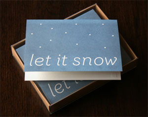 Let It Snow Letterpress Card | Pressed Co