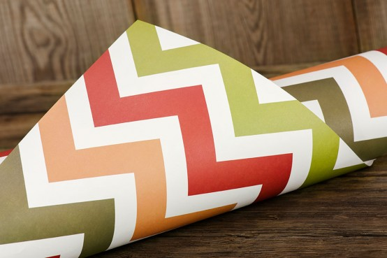 Chevron Holiday Gift Wrap | Ruff House Art