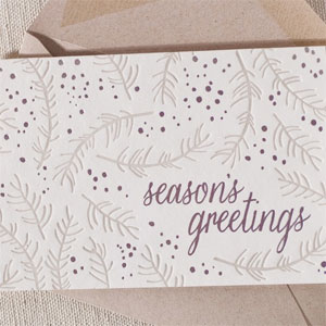 Branch Letterpress + Foil Card | Smock