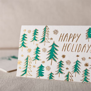 Trees Letterpress + Foil Card | Smock