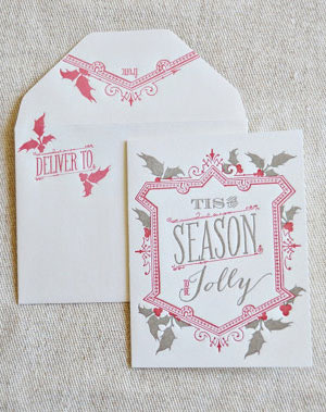 Tis The Season Letterpress Card | Wiley Valentine